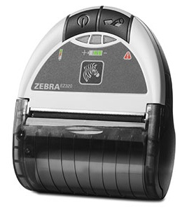 Zebra EZ320 mobile direct thermal printer