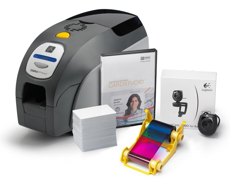 Zebra QuikCard ID Card Production Package ZXP 3 Printer