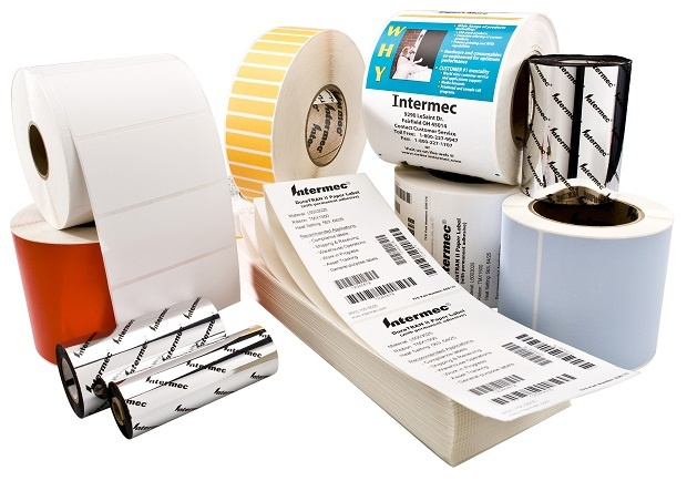 Honeywell Intermec Duratran II White Gloss Polyester Labels