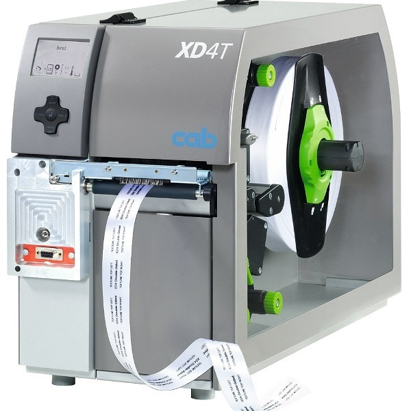 cab Thermal Transfer Industrial Label printer XD4T/300dpi for Textile Material
