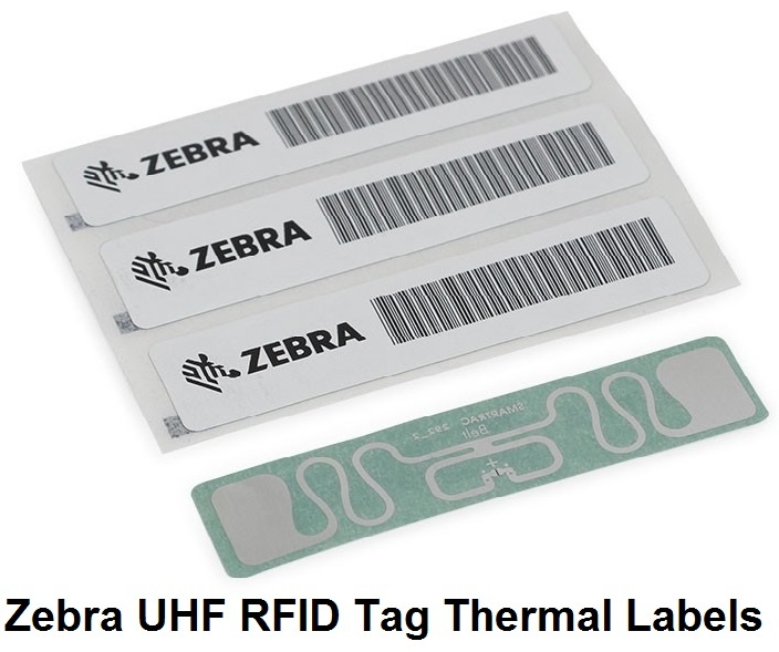 Zebra UHF RFID Tag Thermal Labels