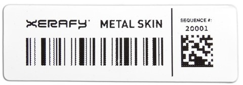 Xerafy Platinum Metal Skin UHF RFID Thermal Transfer Label