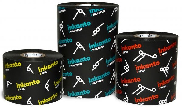 """Armor inkanto AWX FH Premium Wax Transfer Ribbons for Flat Head Generic Industrial Printers Inside Wound 1.0"""" Core"""