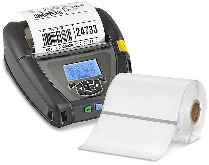 Zebra Paper Labels for Zebra Mobile Printers