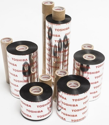 Toshiba TEC Wax/Resin Smearless Thermal Transfer Ribbons for Toshiba TEC B-SA4T and B-EX4-T2 Printers