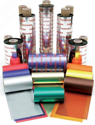 Toshiba TEC Wax/Resin Colour Thermal Transfer Ribbons for B-SX6/8, BX-72 and BX-82 Printers
