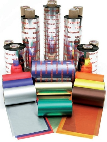 Toshiba TEC Wax/Resin Colour Thermal Transfer Ribbons for B-EX4T1, B-SX4/5, BX-72 and BX-82  Printers