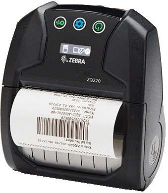 "Zebra ZQ220 3.0"" Wide Direct Thermal Mobile Printer"