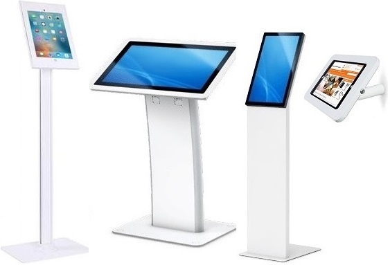 Healthcare Android 7.1 Touch Screen 15.6inch White with Robust Kiosk Floor, Wall or Desk-top Mounted Stands offer all-in-one