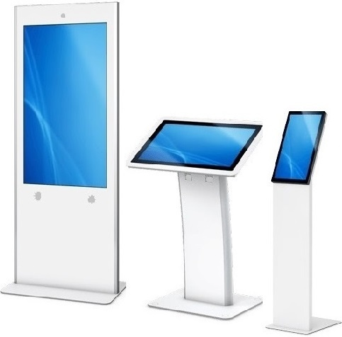 Healthcare Android 7.1 Touch Screen Tablets 21.5inch White with Robust Kiosk Floor, Wall or Desk-top Mounted Stands