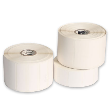 "Thermal Transfer Paper Labels for Desktop Printers 5"" O.D - Permanent Adhesive"