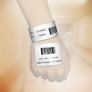 Hospital Barcode Wristband / Bracelet