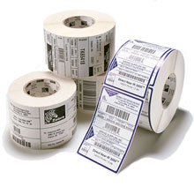 Zebra PolyPro 4000D Direct Thermal Polypropylene Labels for Zebra Mobile Printers