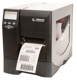 "Zebra ZM400 4.0"" Wide Thermal Barcode Label Printer"