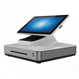 Elo PayPoint Plus, 39.6 cm (15,6''), Projected Capacitive, SSD, MSR, Scanner, Android, white